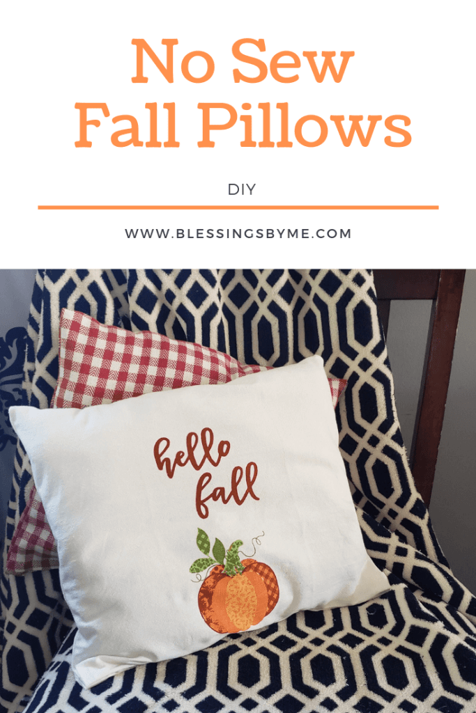 No Sew Fall Pillows