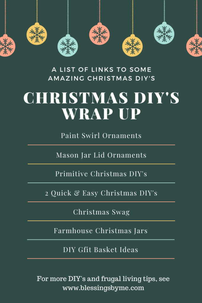 Christmas DIY's Wrap Up List