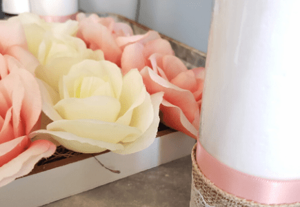 Valentine's Flower Box & Candles