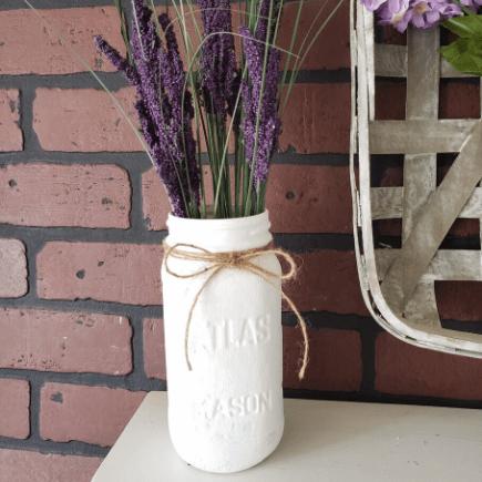 Farmhouse Mason Jar Vase