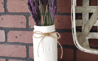 Farmhouse Mason Jar Vase