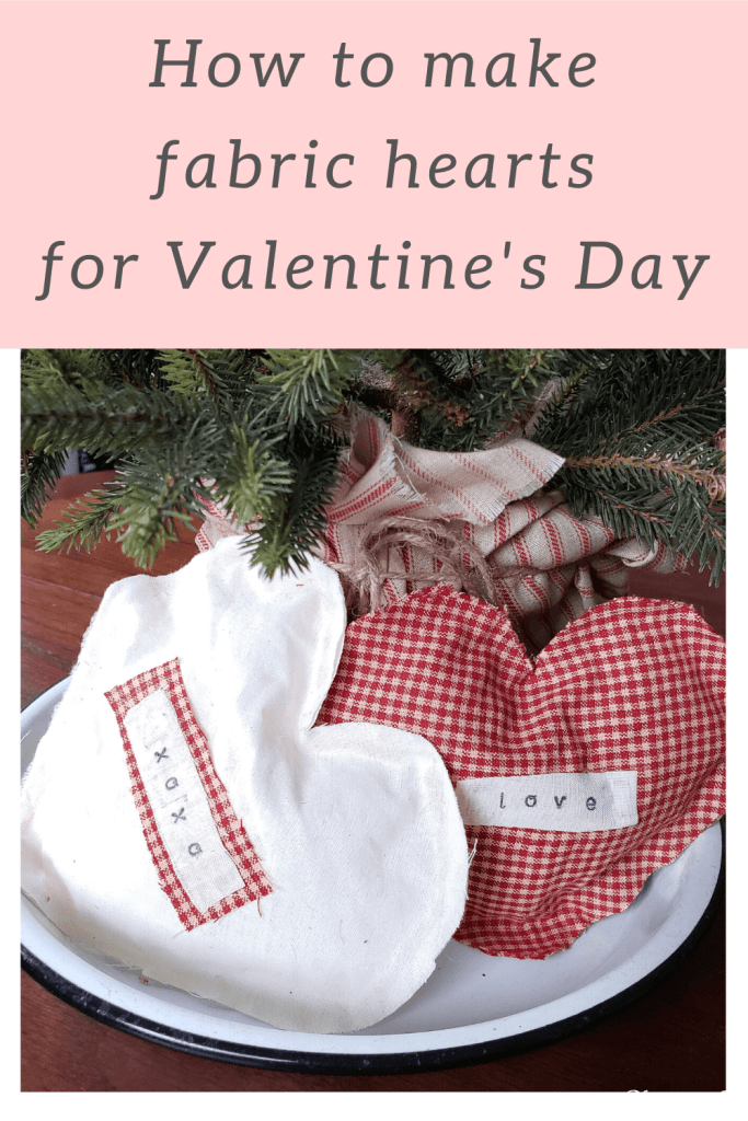 easy no sew fabric hearts for Valentine's Day
