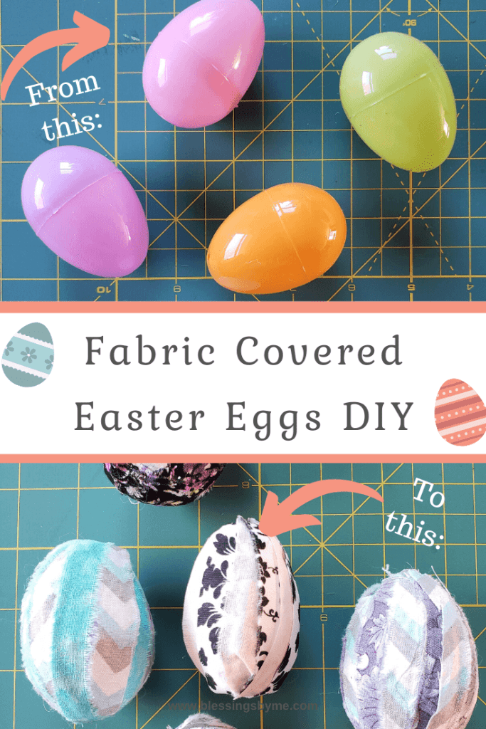 Fabric Covered Easter Eggs Pin