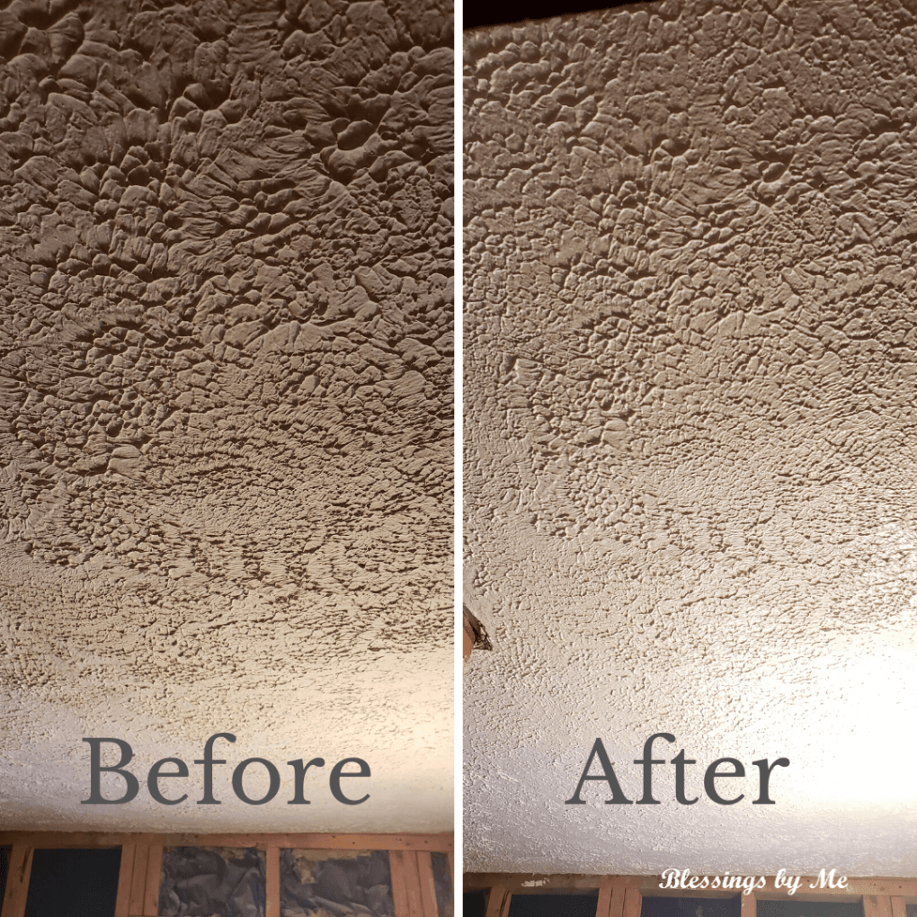 Painted ceiling - home renovation update