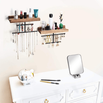 jewelry organizing shelves - best organizers for your bedroom