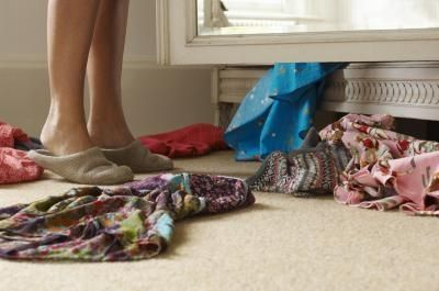 clothes on the bedroom floor - natural ways to make your bedroom smell clean
