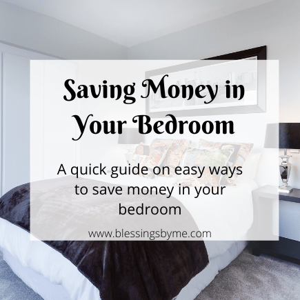 saving money in your bedroom