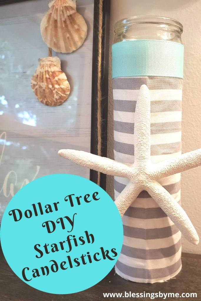 Starfish Candlesticks - Dollar Tree DIY