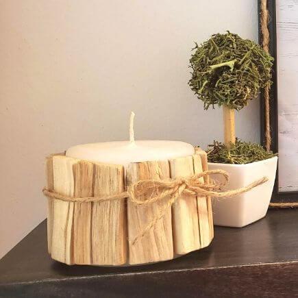 driftwood candle diy