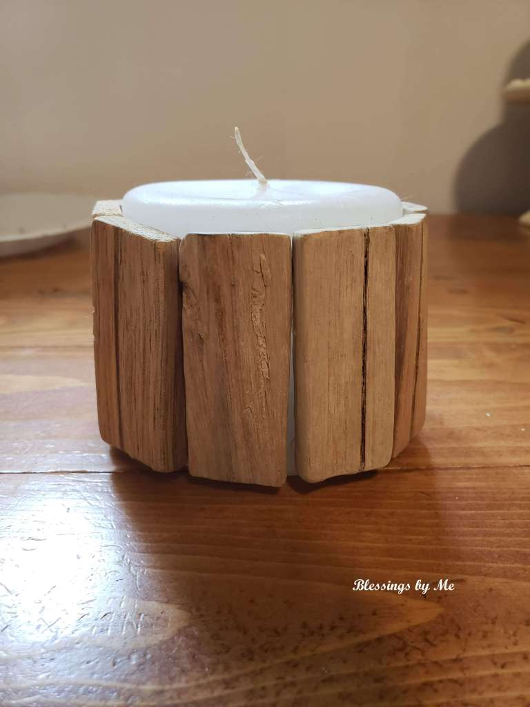 driftwood candle diy