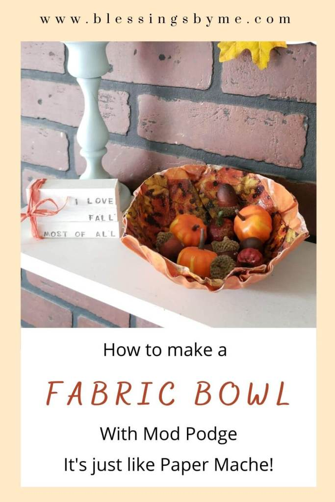 how to make fabric bowls for fall
