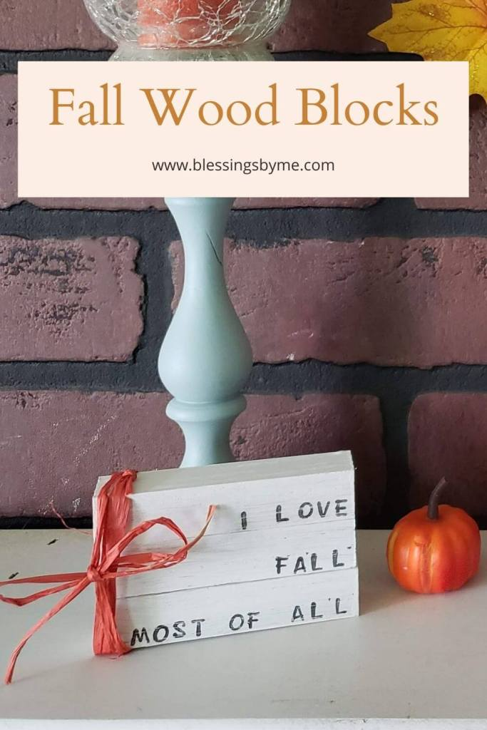 Painted wood blocks for fall