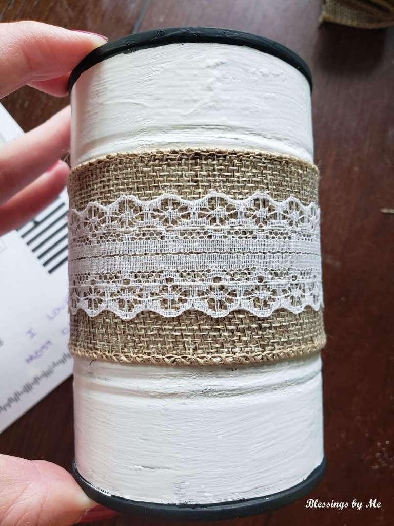 Step 3 - Add burlap ribbon