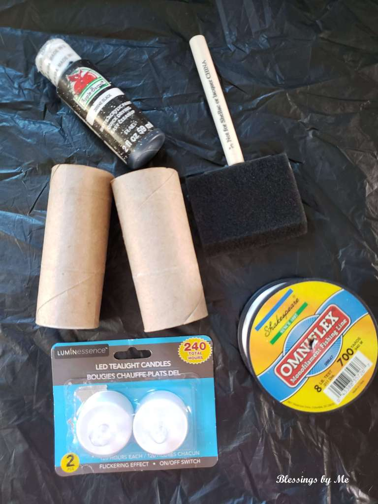 materials needed for floating Halloween candles