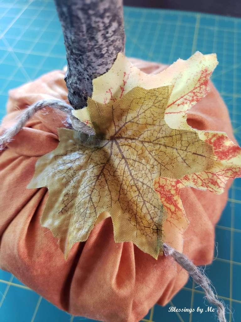 step 8 - glue on leaves