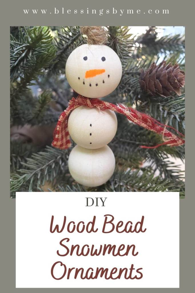 wood bead snowmen