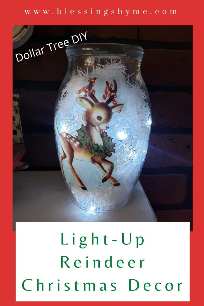 Light Up Reindeer Christmas Decor