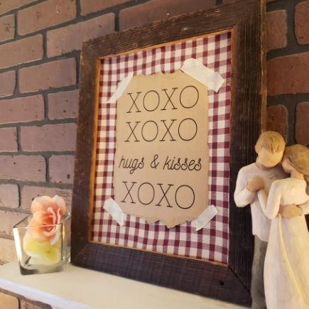 Rustic Valentine's Frame