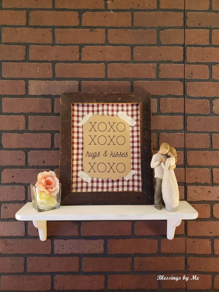 Rustic Valentine's Frame
