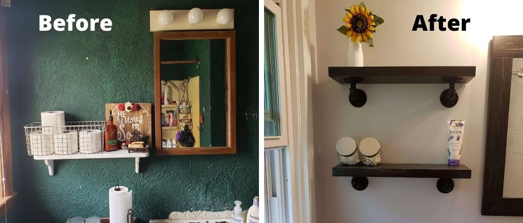 home renovation update before and after #1