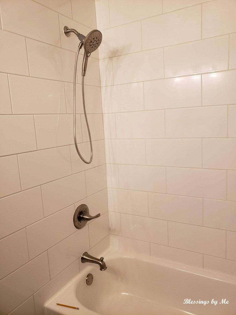 home renovation update - shower