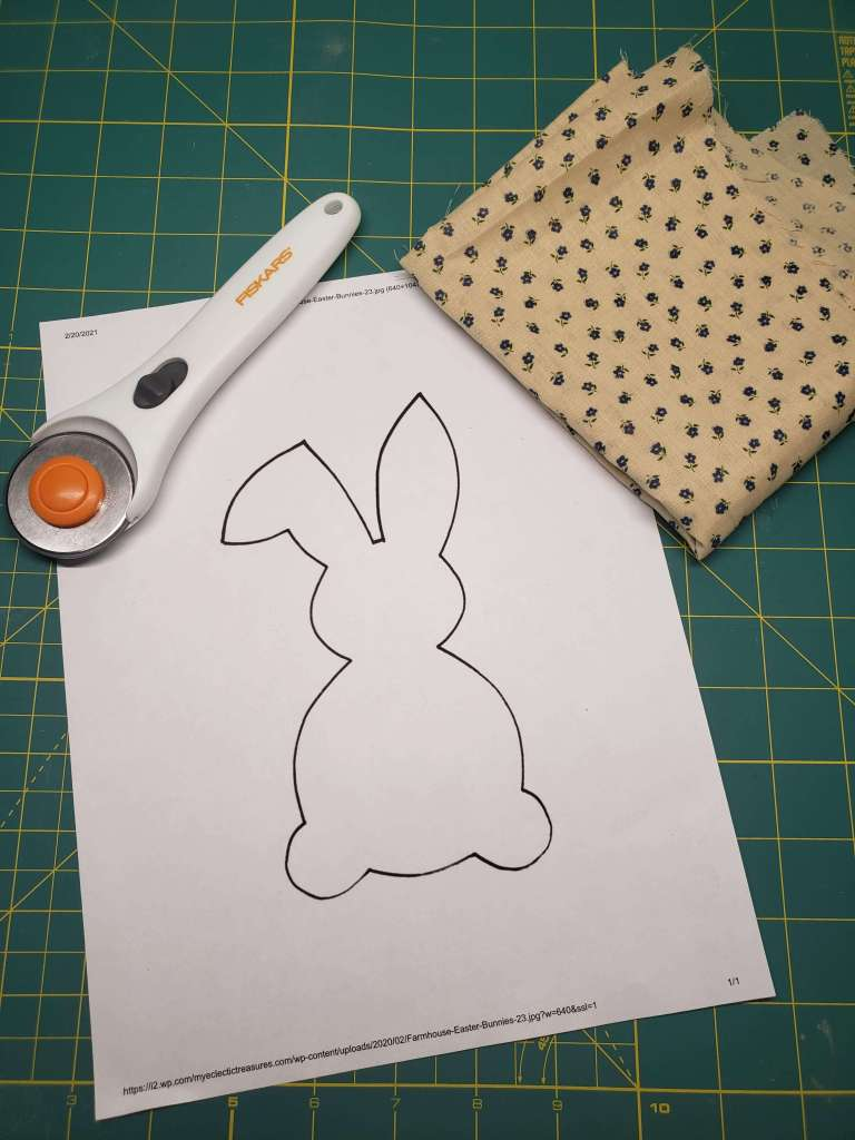 materials needed for no-sew fabric bunny