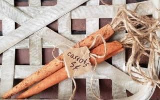 paper bag carrots