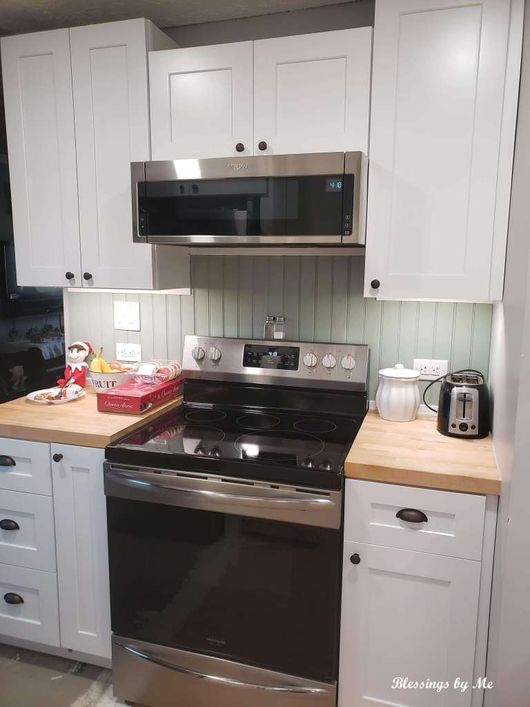 kitchen renovation - stove side