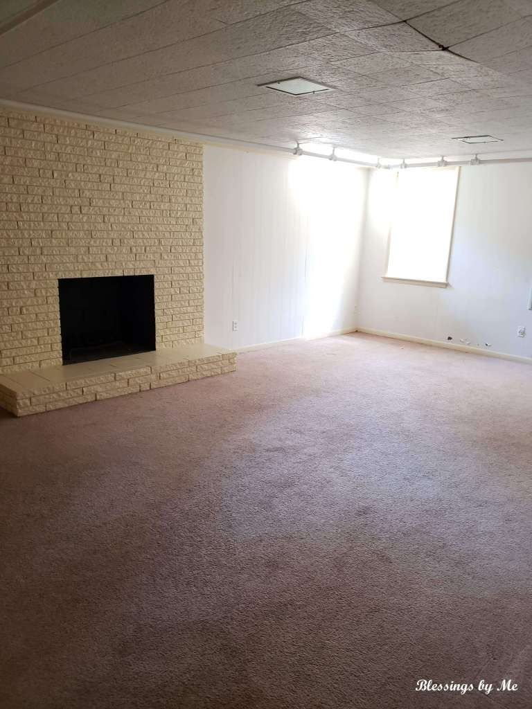 game room in basement - new home