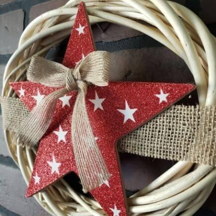 Star Wreath Dollar Tree DIY