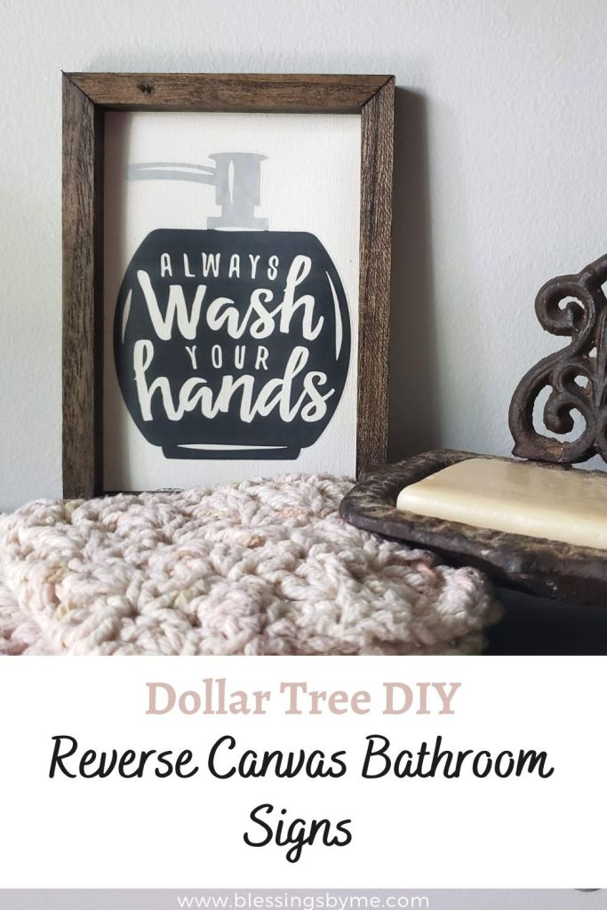 Reverse Canvas Bathroom Signs