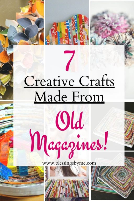 creative crafts using old magazines