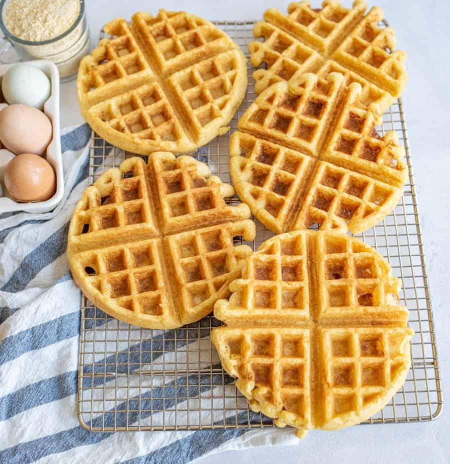 Image of Easy Cornbread Waffles
