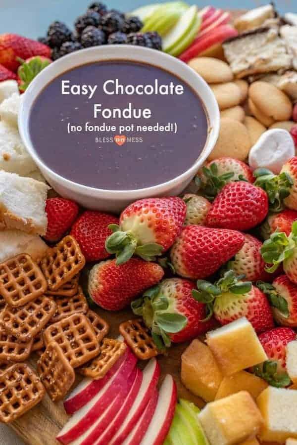 Homemade Chocolate Fondue Recipe | Easy Chocolate Dessert Idea!
