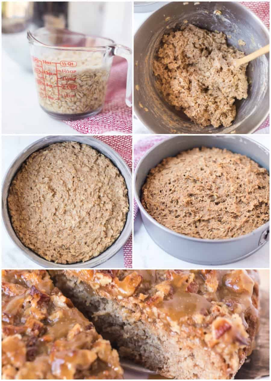old fashioned oatmeal cake recipe how to image
