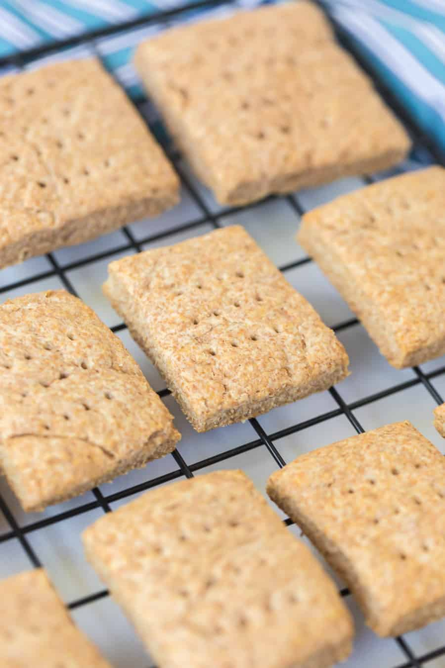 simple graham crackers on cooling rack