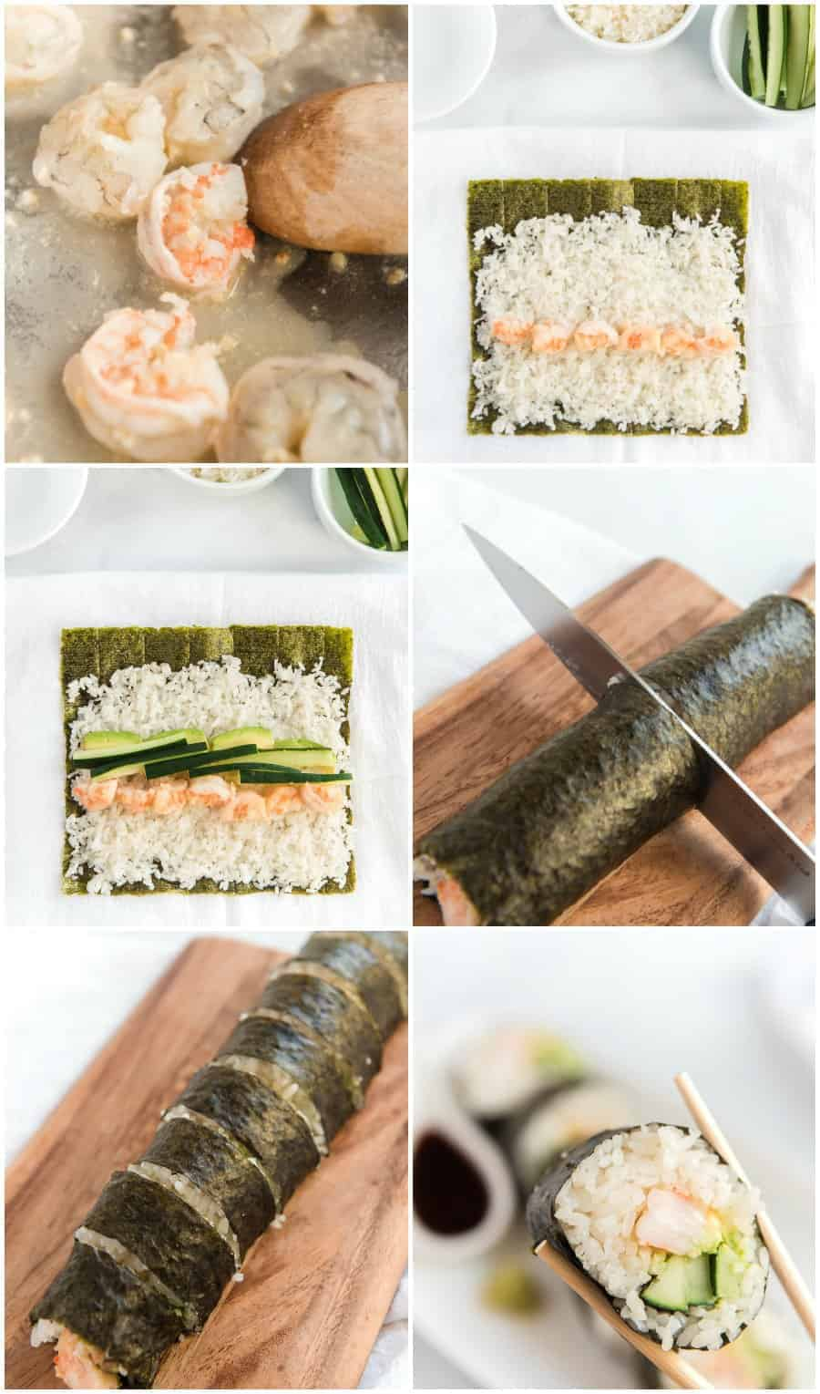easy shrimp sushi roll recipe how to images