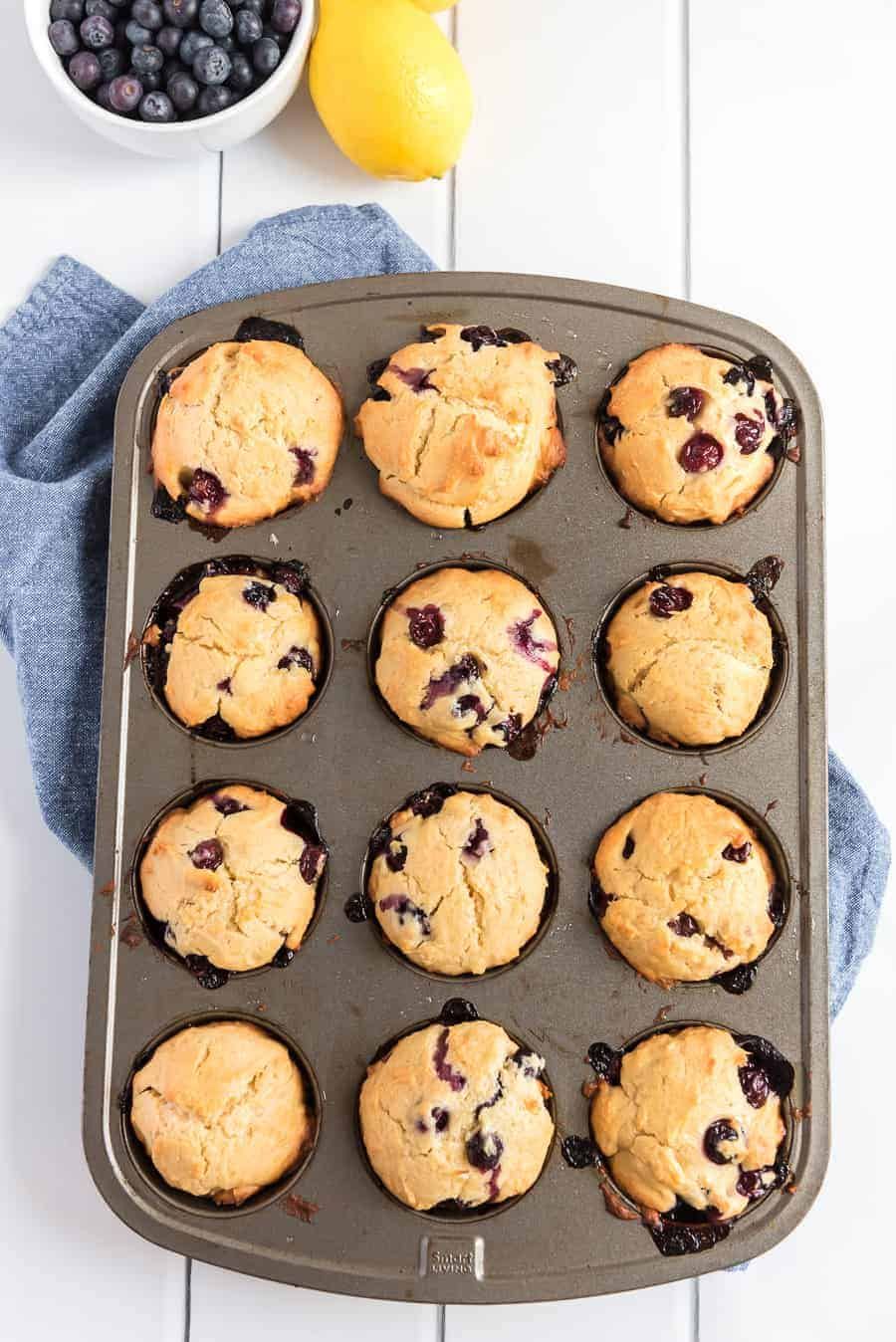 How To Make Blueberry Lemon Muffins