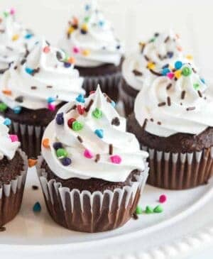 My mom's Easy and Extra Fluffy White Cloud Frosting is a light and bright, not-too-sweet topping to douse on cupcakes and cakes of all varieties!
