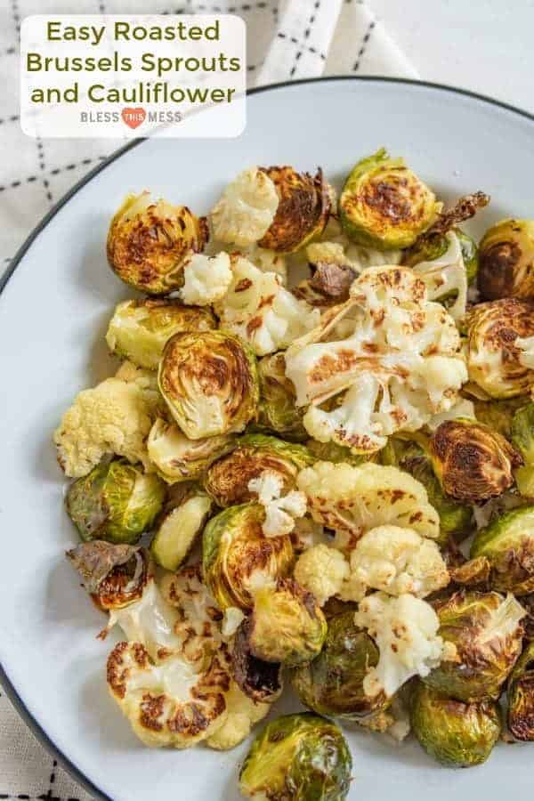 The Easy Roasted Brussels Sprouts + Cauliflower Recipe My Kids Love