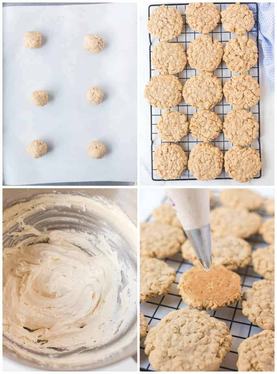 how to make oatmeal cream pie sandwich cookies image