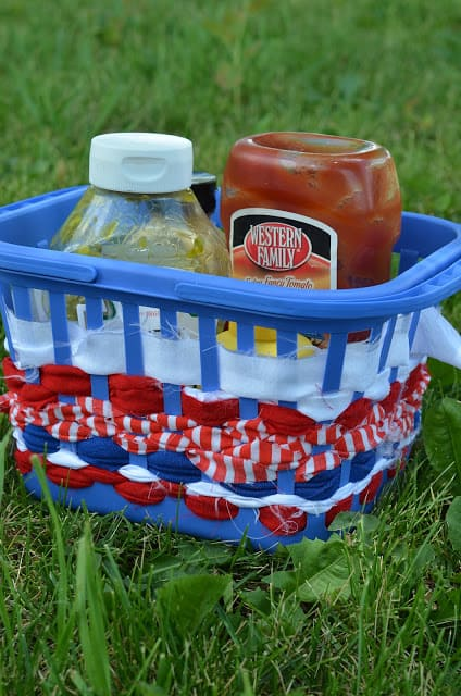 Easy Red White and Blue Condiment Caddie