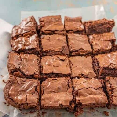 Homemade Triple Chocolate Brownies