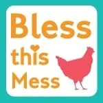 Bless This Mess square image with chicken