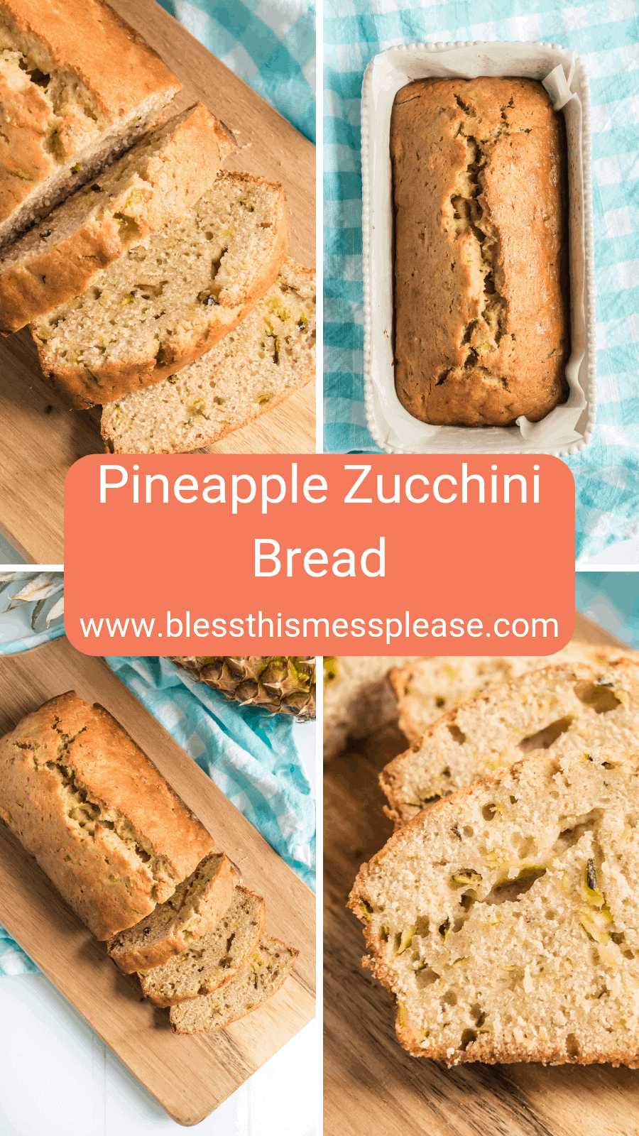 Moist and sweet, zucchini pineapple bread is a scrumptious and unexpectedly delicious treat that you need to try today!