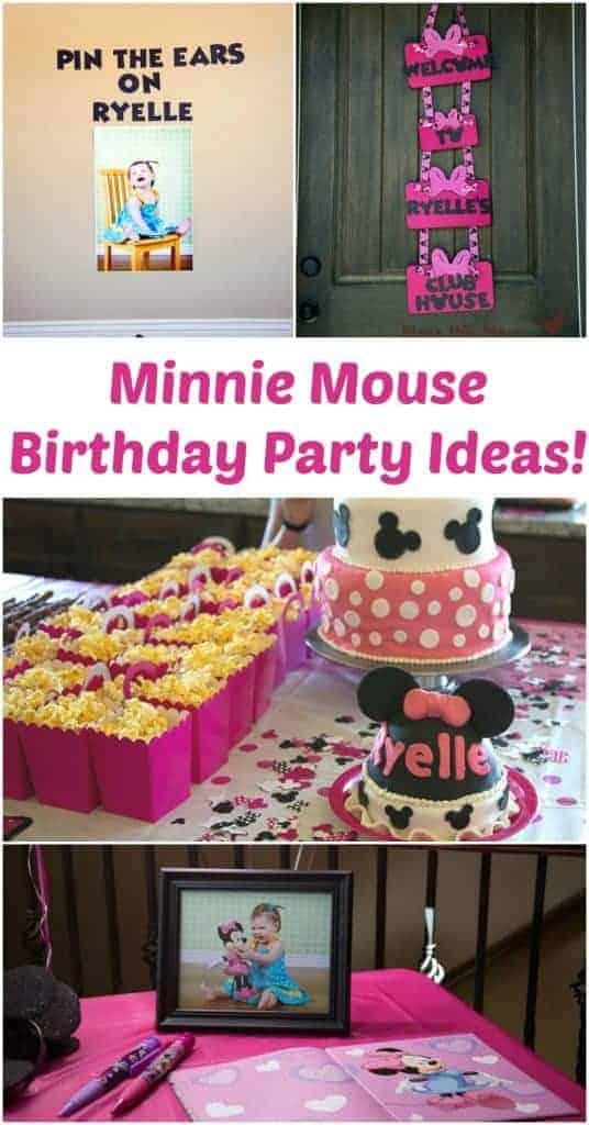 Minnie Mouse Birthday Photo