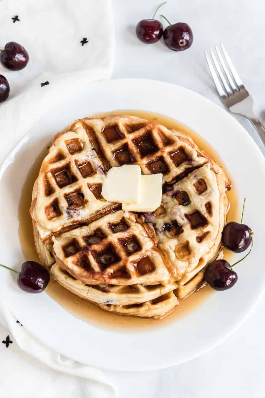 Image of Sweet Cherry Waffles