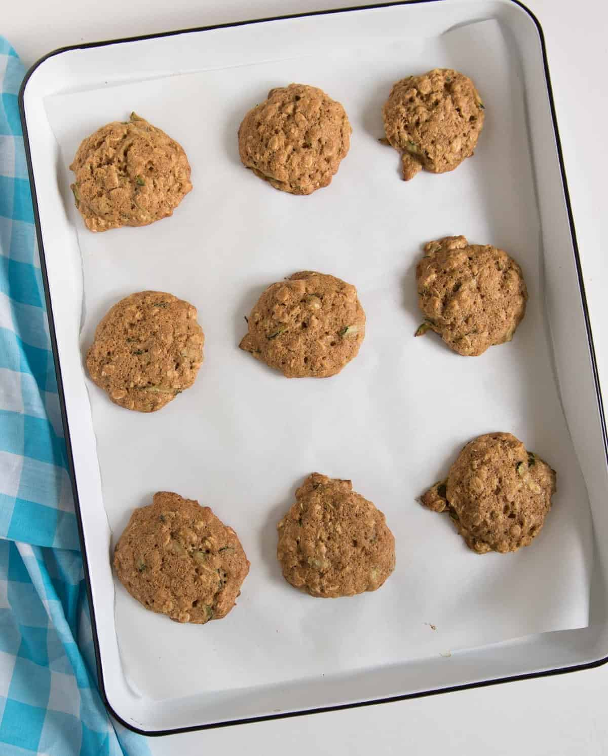 Zucchini Oatmeal Cookies are surprisingly light and fluffy cookies made from oats and shredded zucchini.