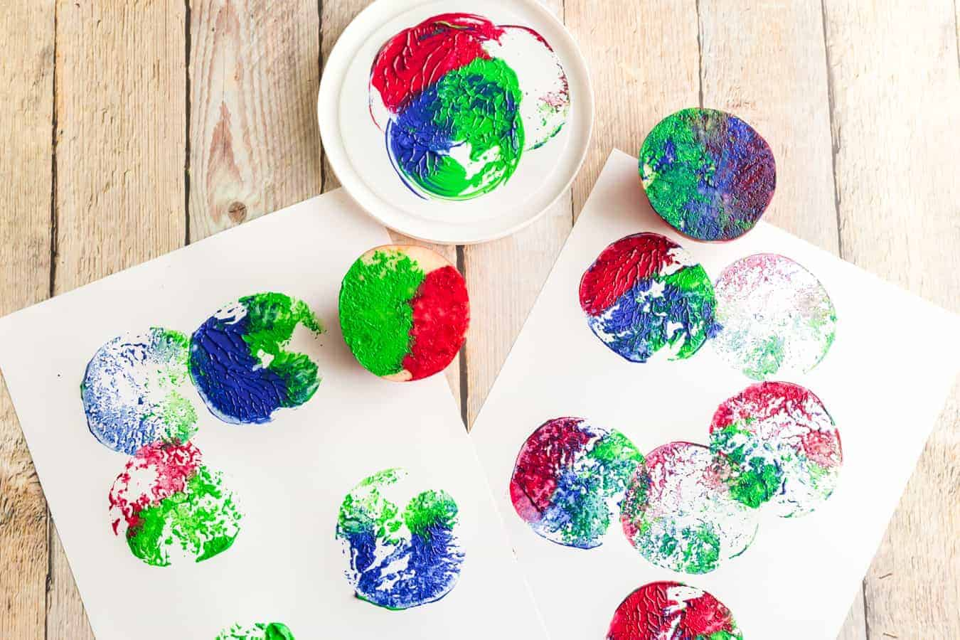 Image of Apple Stamp Art