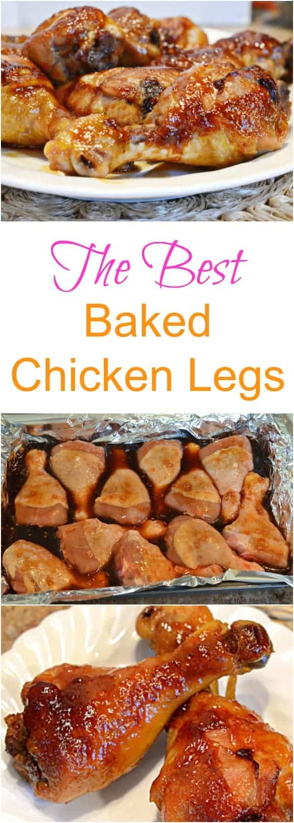 This simple 5 ingredient recipe makes the best baked chicken legs I have ever had in my whole life! (And the masses agree - this recipe has been shared more than 250,000 times!)
